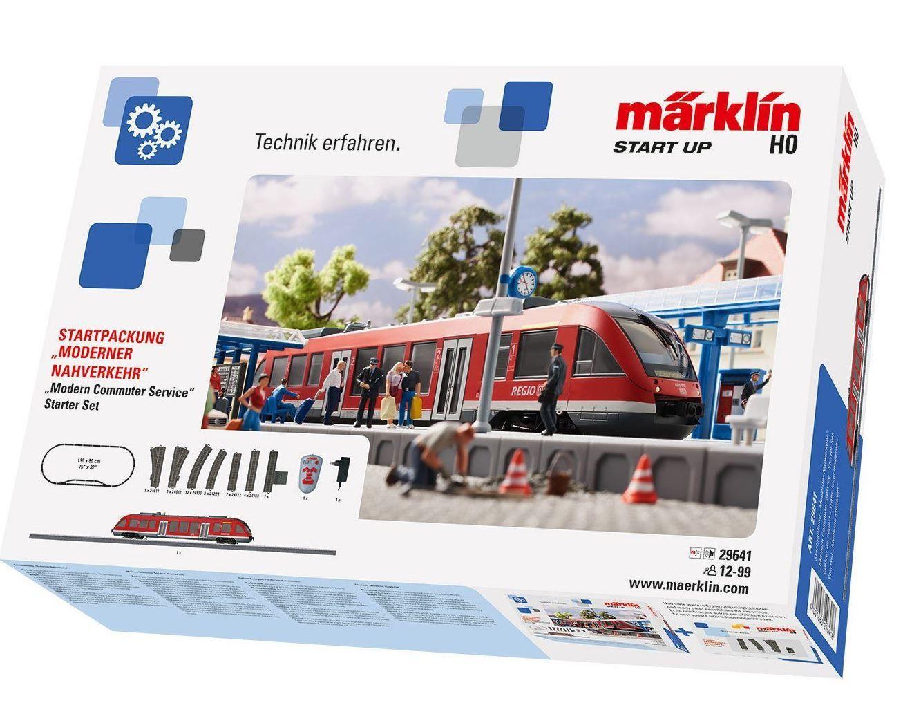 TOP! MÄRKLIN 29641   Startpackung Moderner Nahverkehr für 129,99€ (statt 196€)
