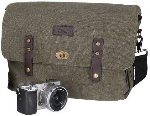 ROLLEI 20296 Vintage Look Kameratasche in Grün für 29€ (statt 40€)