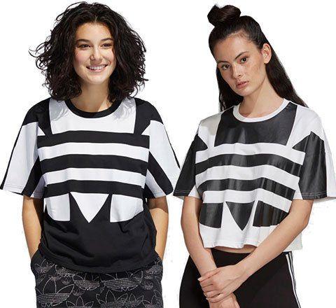 adidas Damen T Shirt Large Logo  in 2 Designs für je 15,99€ (statt 26€)