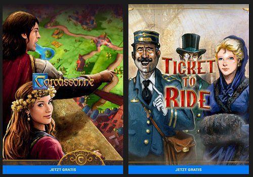Carcassonne: Tiles & Tactics & Ticket to Ride gratis bei Epic Games (statt ca. 15€)