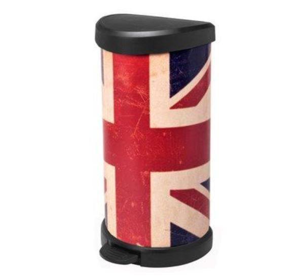 Curver Abfalleimer 40 Liter Union Jack für 27,42€ (statt 39€)