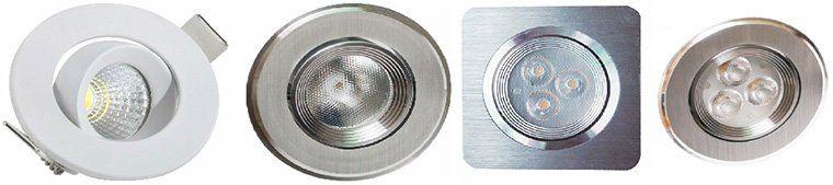 2er Pack LED Einbaustrahler von Eco Light für je 5,99€   15 Modelle!