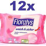 FLORALYS Feuchtes Toilettenpapier (12×70 Blatt) für 14,83€