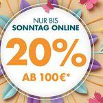 Galeria Frühlings Sale: heute mit 20 % Rabatt auf vieles ab 100€