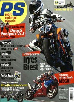 12 Ausgaben PS Sport Motorrad Magazin für 65€ + 60€ Gutschein