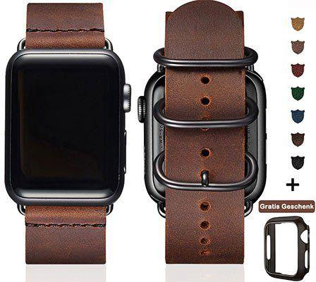 Retro Lederbänder für Apple Watch 38   44mm für 11,49€ (statt 23€)