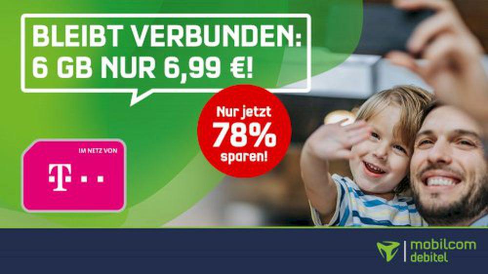 Abgelaufen! 🔥 Telekom Allnet Flatrate mit 6GB LTE für 6,99€monatlich + eSIM & Rufnummermitnahme möglich