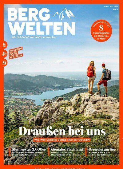 8 Ausgaben Bergwelten für 44€ + Prämie: 35€ Scheck oder Amazon Gutschein