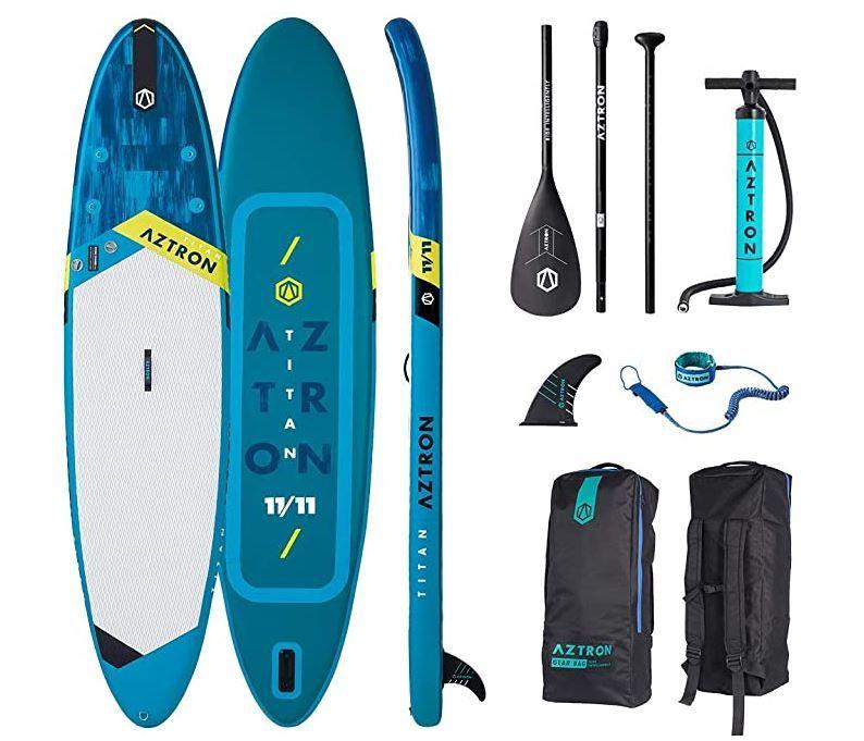 Aztron Titan 11.11 aufblasbares Stand Up Paddling Surfboard 363cm mit Paddel & Zubehör für 260,91€ (statt 289€)