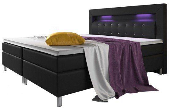 ArtLife Boxspringbett mit Topper und Bonell Federkern Matratze und LED in 140cm und 180cm ab 569€ (statt 699€)