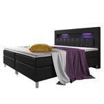 ArtLife Boxspringbett mit Topper und Bonell-Federkern-Matratze und LED in 140cm und 180cm ab 569€ (statt 699€)