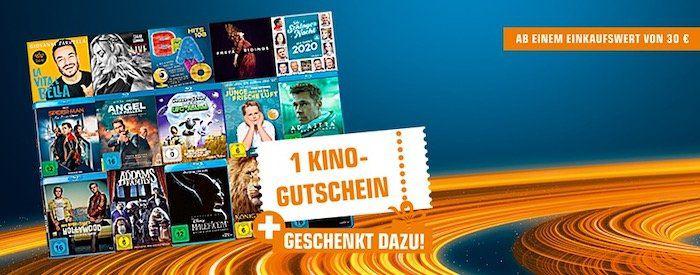 CDs, DVDs oder Blu rays bei Saturn kaufen   pro 30€ Warenkorbwert 1 Kino Gutschein bekommen