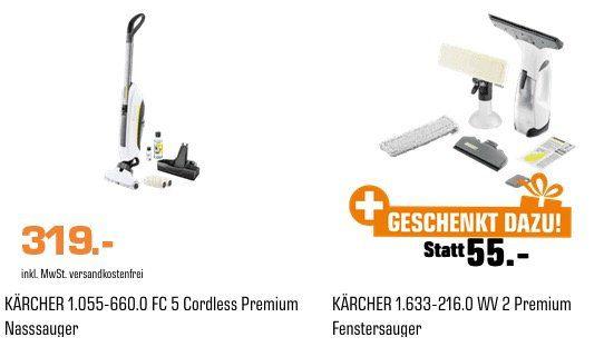 Kärcher FC5 Cordless Premium Akku Hartbodenreiniger + WV2 Premium für 319€ (statt 369€)