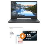 Dell 17 Zoll G7 7790 (Core i5, 8GB und 1TB HD + 128GB SSD) + Office 2019 + 100€ Saturn für 1.199€ (statt 1.376€)