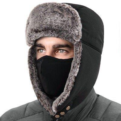 Unigear Wintermütze mit Ohrenklappen und abnehmbarer Gesichtsmaske für z.B. Skifahren für 4,99€ (statt 10€)
