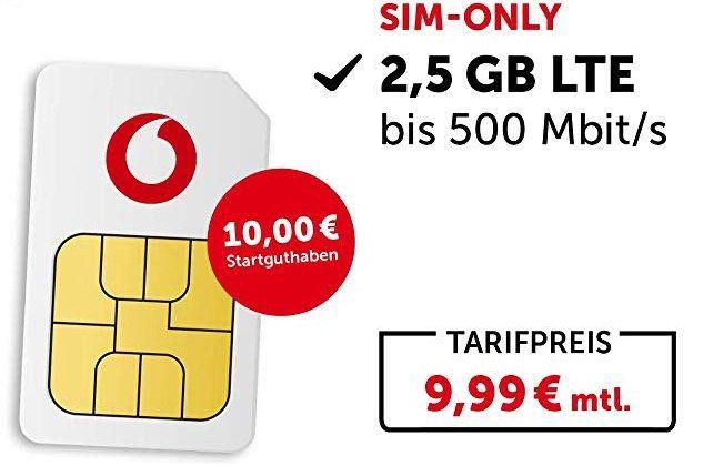 Vodafone/Otelo Tarife (Prepaid oder Laufzeit) bei Amazon   z.B. Vodafone Callya Talk und SMS inkl. 10€ Startguthaben für 2€