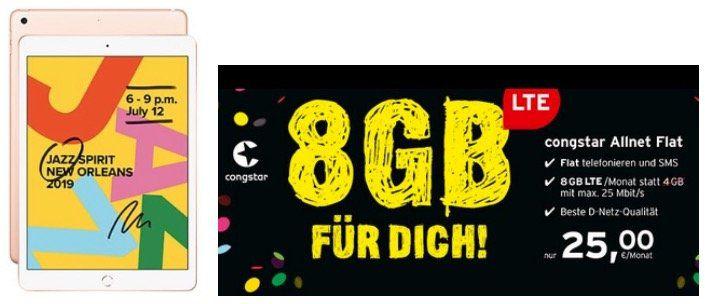 Telekom Allnet Flat mit 8GB LTE25 für 25€ mtl.   mit z.B. Apple iPad (2019) WiFi für 4,95€