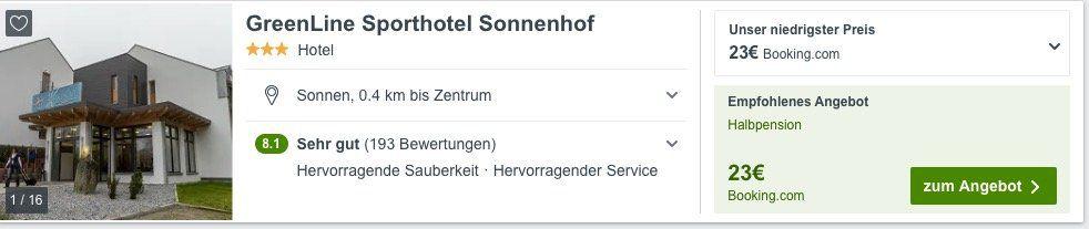 Bayrischer Wald: ÜN im 3* Sporthotel Einzelzimmer mit Halbpension für 23€ oder Doppelzimmer mit Frühstück für 32€
