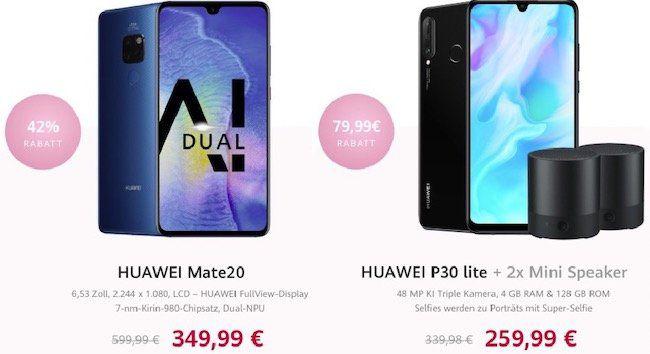 Weltfrauentag Deals bei Huawei   z.B. Huawei Mate 20 für 349,99€ (statt 392€)