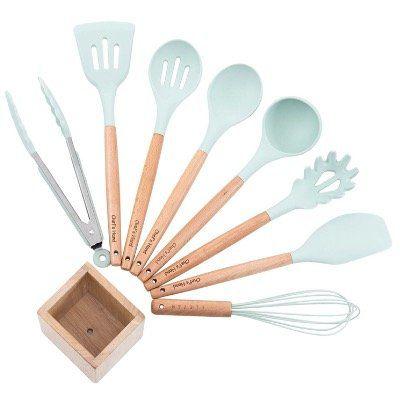 Vorbei! Chefshand Küchen Set aus Silikon mit z.B. Schneebesen, Pfannenwender und Schöpflöffel (9teilig) für nur 11,99€ (statt 25€)