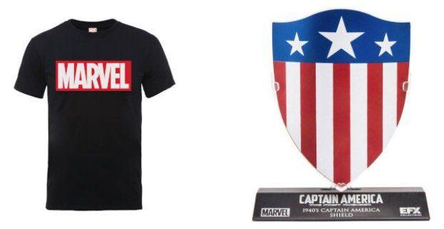 Marvel College Jacke + Shirt + Captain America Schild für 38,48€(statt 56€)