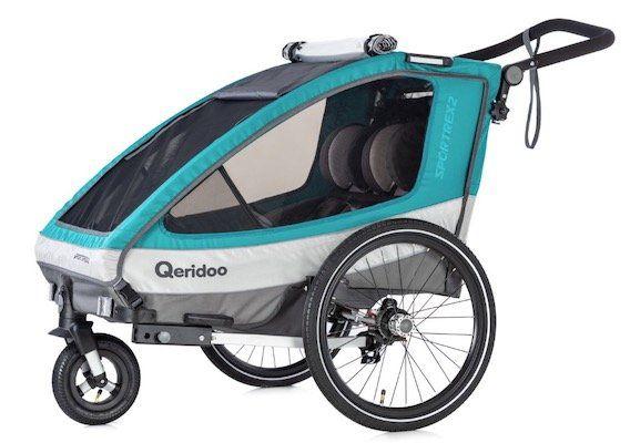 Qeridoo Sportrex 2   Zweisitzer Fahrradanhänger (2019) für 314,99€ (statt 383€)