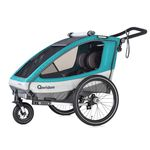 Qeridoo Sportrex 2 – Zweisitzer-Fahrradanhänger (2019) für 314,99€ (statt 383€)