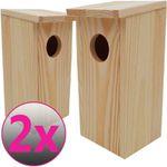 Doppelpack diluma Nistkasten Vogelhaus aus Holz für 13,95€ (statt 22€)