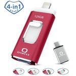 QARFEE USB-Flash-Stick mit 128GB mit Lightning-Stecker und USB-Adapter für 25,84€ (statt 47€)