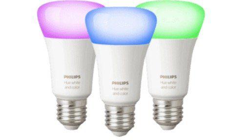 Philips Hue White and Color Ambiance E27 mit Bluetooth im 3er Set für 86,76€ (statt 129€)