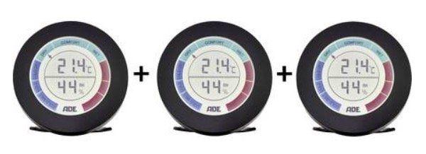 3er Pack ADE WS 1831 Thermo /Hygrometer für 21,94€ (statt 45€)