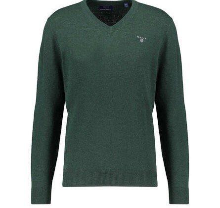 2er Pack GANT Pullover in Grün aus Lammwolle mit V Neck für 74,62€ (statt 92€)