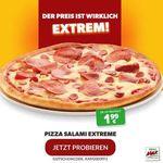 Pizza Max: Pizza Salami Extreme 26cm für 1,99€ bei Abholung oder Lieferung