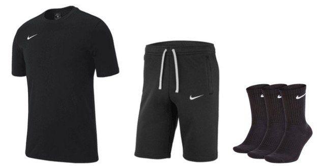 Nike Club 19 Outfit aus Shirt, Shorts und 3x Socken in frei wählbaren Farben für 37,95€ (statt 47€)