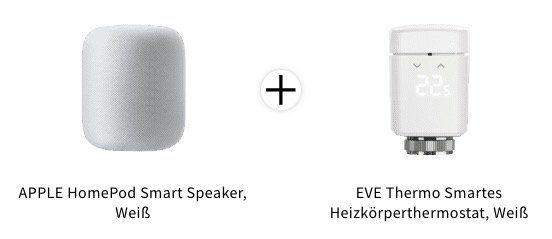 Apple HomePod Smart Speaker inkl. EVE Thermo Smartes Heizkörperthermostat für 309€ (statt 339€)