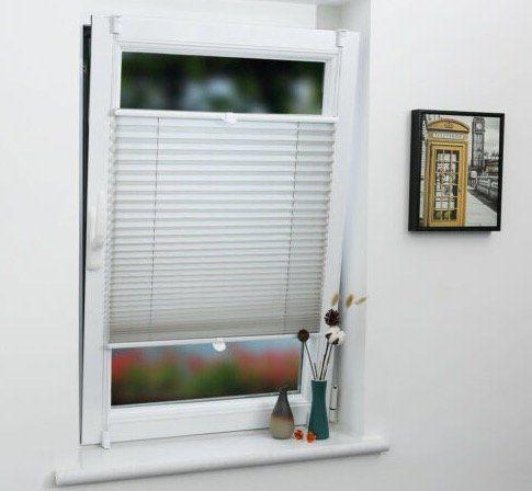 Plissee Sicht/Sonnenschutz mit Klemmfix (ohne Bohren) ab 4,81€