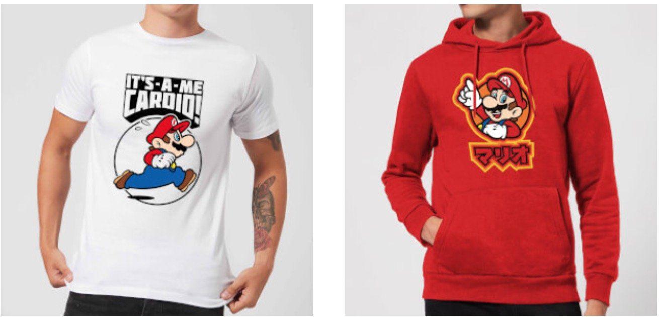 Super Mario Hoodie + T Shirt für 24,48€ (statt 47€)