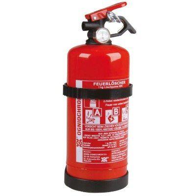 Unitec Feuerlöscher für KFZ (1kg, ABC Pulver, mit Druckhebelventil, nachfüllbar) für 15,69€ (statt 26€)