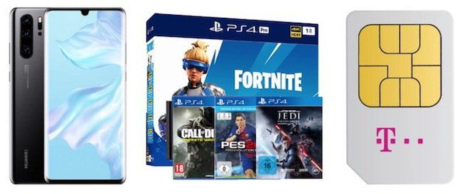 🔥Young + MagentaEins: Huawei P30 Pro + PS4 Pro (inkl. 4 Games) + Telekom Flat 24GB LTE + StreamOn 39,95€mtl.