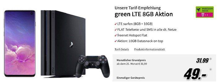 🔥 Samsung Galaxy S10 + PS4 Pro für 49€ + Telekom Flat mit 18GB LTE für 31,99€ mtl.