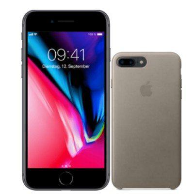 Apple iPhone 8 Plus 256GB mit Lederhülle für 99€ mit Telekom Allnet mit 8GB LTE25 für 25€ mtl.