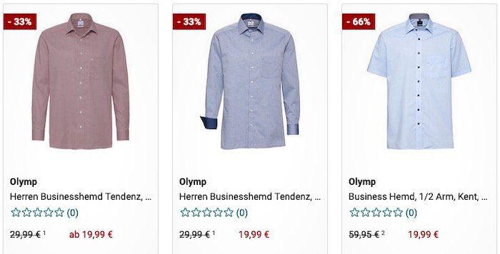 Olymp Business Hemden im Sale bei Galeria mit 20% Extra Rabatt   z.B. Hemden schon ab 15,99€