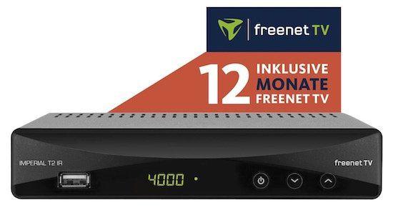 Imperial T2 IR DVB T2 HD Receiver + 12 Monate freenet TV für 49€(statt 92€)
