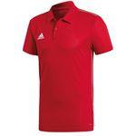adidas Core 18 ClimaLite Poloshirt in Rot bis 3XL für 11,74€(statt 17€)