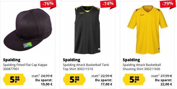 Spalding Basketball Sale bei SportSpar   z.B. Tank Top nur 3,99€ oder Trikot nur 4,99€