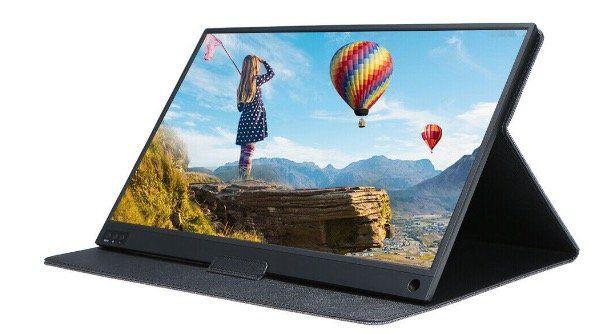 Monitor T bao mit FullHD 1920x1080 in 15,6 Zoll mit IPS Display & Ledercase für 128,99€   Versand aus DE