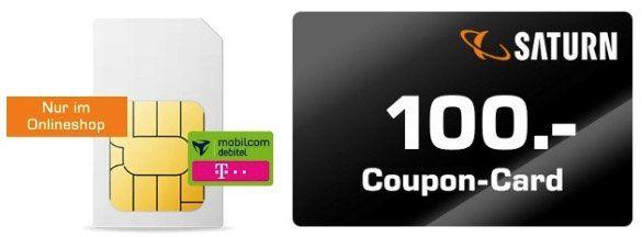 Knaller: 🔥 Telekom Datenflat mit 15GB LTE 150 Mbit für 9,99€ mtl.   dazu 100€ Saturn Gutschein