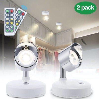 2er Pack Elfeland LED Wandstrahler mit Schalter und Fernbedienung für 12,59€ (statt 23€)