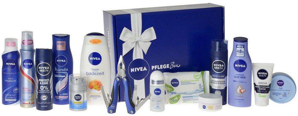 NIVEA Vorteilspack Pflege Box mit 14 Produkten für 23,99€ (statt 30€)