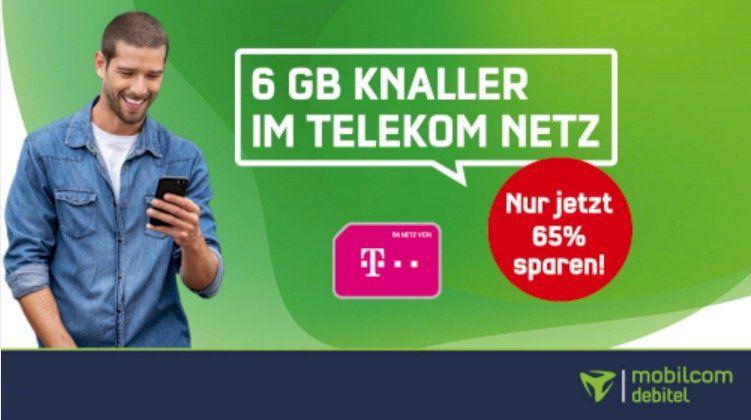 Allnet Flatrate im Telekom Netz mit 6GB LTE für 10,99€mtl.